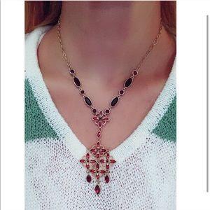 Macy's gold necklace and bracelet